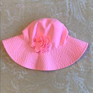 Carter's Girls Sunhat Pink Flower Size 4-8